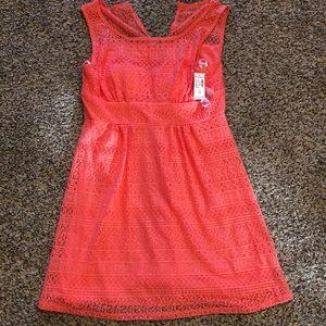 Coral dress-NWT